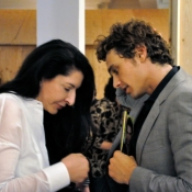 James Franco with Marina Abramovic